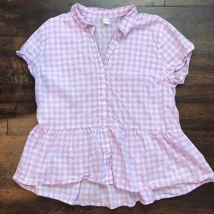 Button down peplum blouse